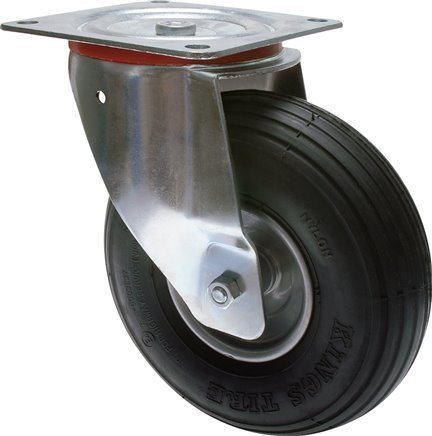 roller with air tyres swivel castor, 180 mm (RO 180 L L)